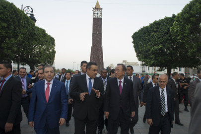 Secretary-General Visits 14 January Square, Tunis