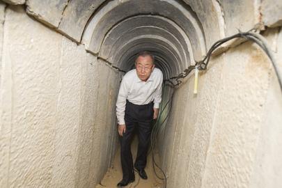 Secretary-General Visits Ein Hashlosha Tunnel in Israel