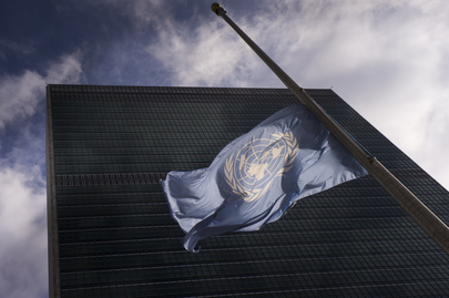 UN Flag at Half-Mast to Honour Late Zambian President