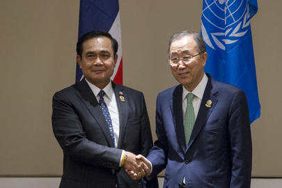 Secretary-General Meets Prime Minister of Thailand in Myanmar