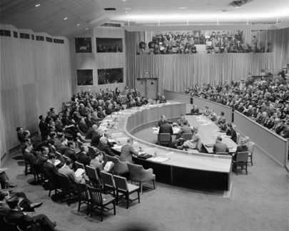 First Meeting of UN Security Council at Hunter College