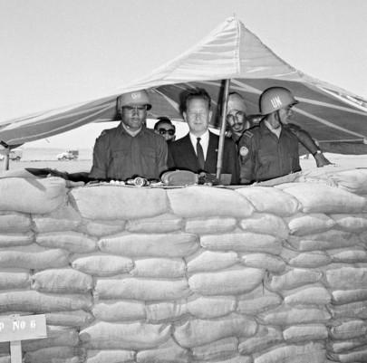 U.N. Secretary-General Visits Battalion of UNEF