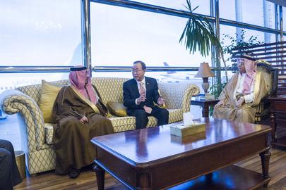 Secretary-General Arrives in Saudi Arabia