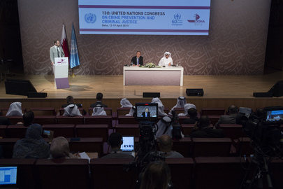 Secretary-General Holds a Joint Press Conference with the Prime Minister and Minister for the Interior of the State of Qatar