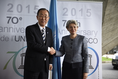 Secretary-General at UNESCO Headquarters