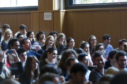 Sciences Po Students during Address by Secretary-General, Paris