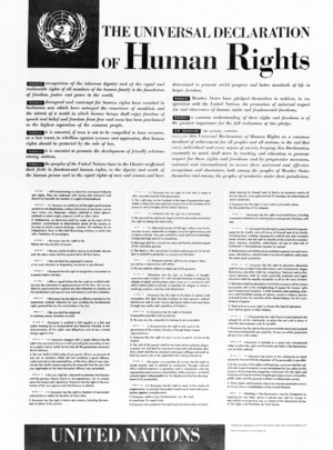 Poster Depicting Universal Declaration of Human Rights -- English Version