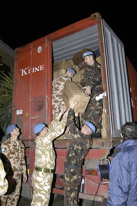 UNFICYP Joins Relief Efforts for Indian Ocean Tsunami Victims