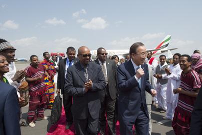 Secretary-General Arrives in Addis Ababa, Ethiopia