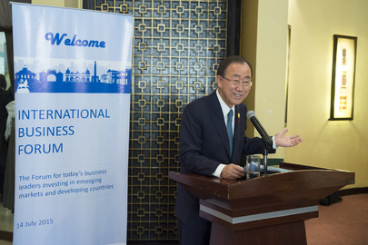 Secretary-General Addresses International Business Forum in Addis Ababa