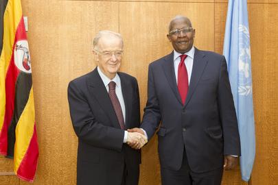 Assembly President Meets UN Mandela Prize Laureate