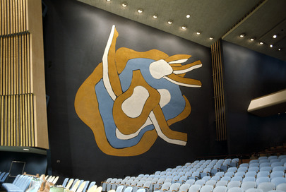 Fernand Leger Murals in General Assembly Hall
