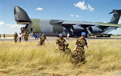 Peacekeeping Troops Arrive in Namibia