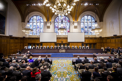 ICJ Judges During Delivery of Judgment in Case Bolivia v. Chile (Chile's Preliminary Objection)