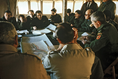 Egyptian and Israeli Generals Confer at Kilometer 101