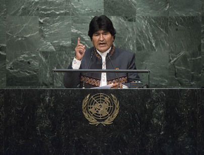 President of Bolivia Addresses General Assembly