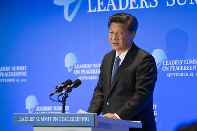 President of China Addresses Leaders' Summit on Peacekeeping