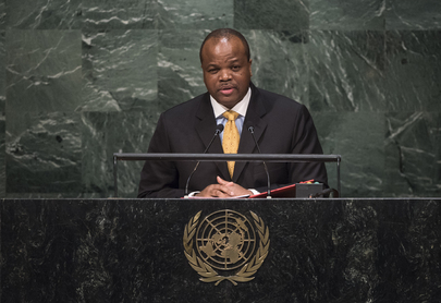 King of Swaziland Addresses General Assembly