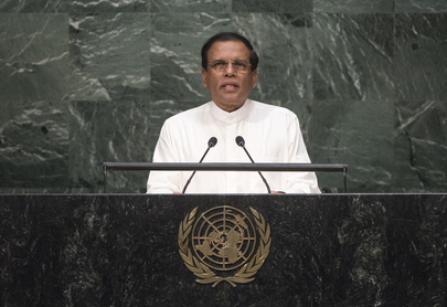 President of Sri Lanka Addresses General Assembly