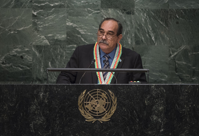 President of Micronesia Addresses General Assembly