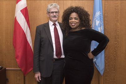 Assembly President Meets Oprah Winfrey