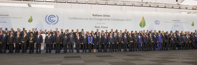 Group Photo of Leaders Attending UN Climate Change Conference in Paris