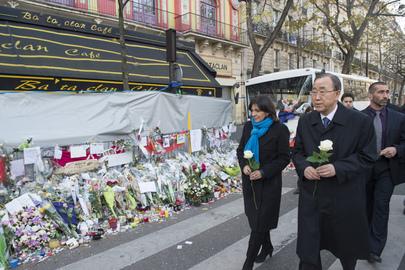 Secretary-General and Mayor of Paris Pay Tribute at Bataclan