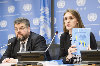 Press Conference Presenting Report on Human Rights Situation in Ukraine