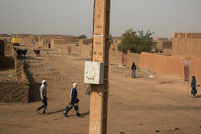 Street Scene from Menaka, Northern Mali