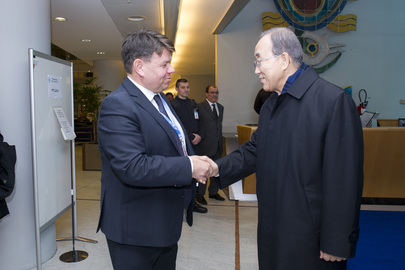 Secretary-General Meets Head of World Meteorological Organization