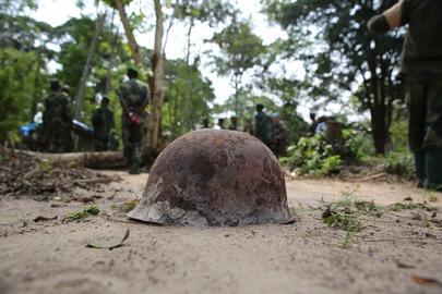 Rusting Helmet in DRC