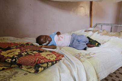 Child at Pediatric Unit in Schiphra Hospital, Ouagadougou