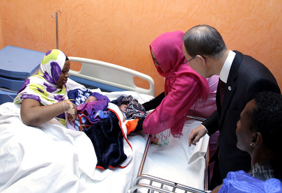 Secretary-General Visits Mother-Child Hospital in Mauritania