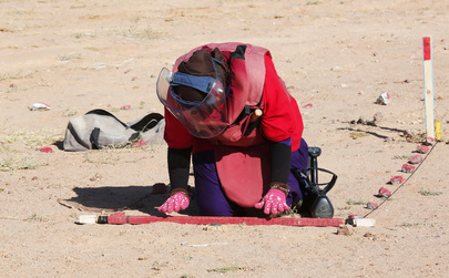 Sahrawi Demining Team in Western Sahara