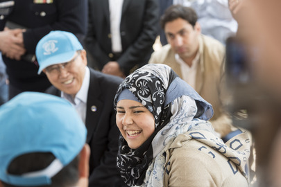 Secretary-General and World Bank President Visit Zaatari Refugee Camp, Jordan