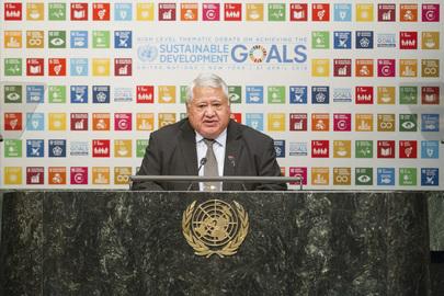 Prime Minister of Samoa Addresses High-level Debate on Achieving SDGs