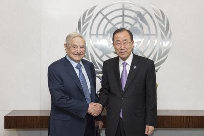 Secretary-General Meets George Soros