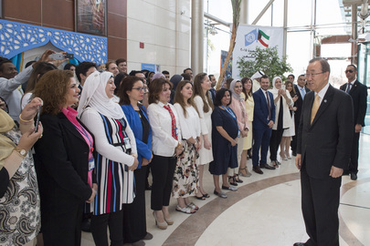 Secretary-General Visits UN House in Kuwait City
