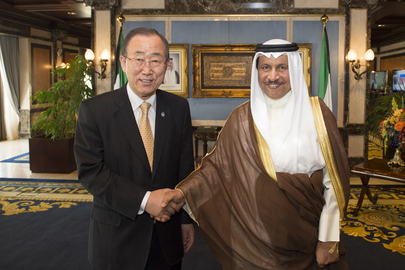Secretary-General Meets Prime Minister of Kuwait