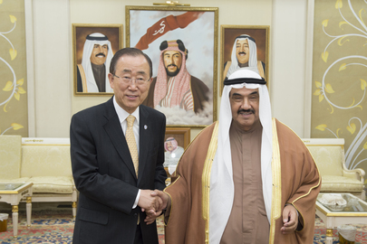 Secretary-General Meets Former Prime Minister of Kuwait