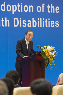 Secretary-General Attends Commemoration of Disabilities Rights Convention