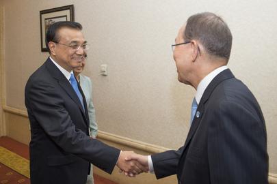 Secretary-General Meets Premier of China