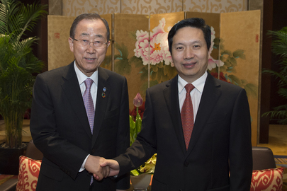 Secretary-General Meets Head of CPC Zhejiang Provincial Committee