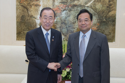 Secretary-General Meets Deputy Governor of Jiangsu Province, China