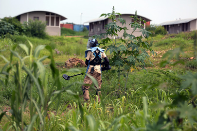 UNMAS Clears Unexploded Mines from UNMISS Base near Juba