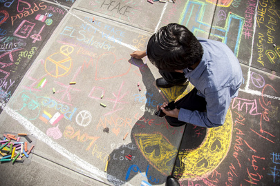 CHALK4PEACE Joins Student Observance of International Peace Day