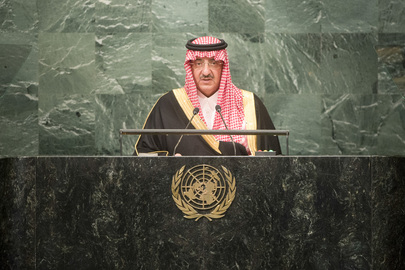 Crown Prince of Saudi Arabia Addresses General Assembly