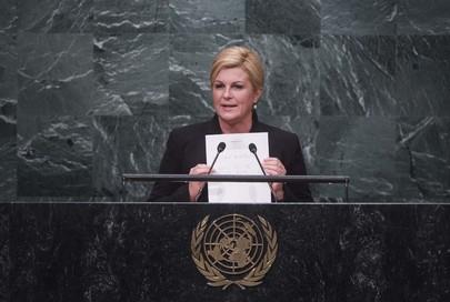 President of Croatia Addresses General Assembly