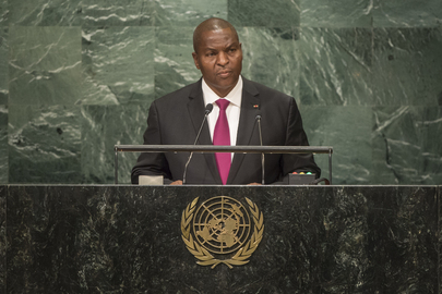 President of Central African Republic Addresses General Assembly