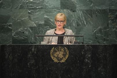 Foreign Minister of Sweden Addresses General Assembly